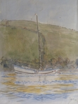 Water colour of Boleh in Salcombe harbour