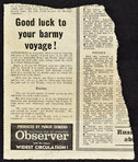 Brief article in the Hastings and St.Leonards Observer newspaper, 1980s