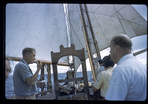 Robin Kilroy sailing with friends